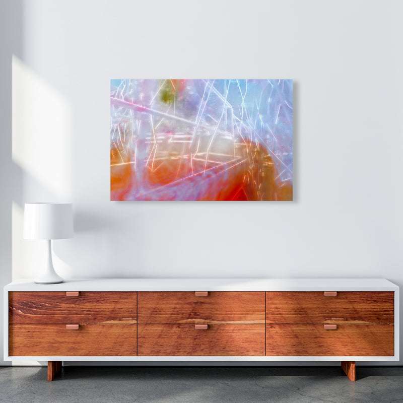 Neon Abstract Art Print by Henry Hu A1 Canvas