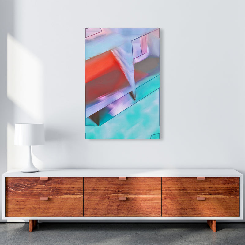 Hillside Abstract Art Print by Henry Hu A1 Canvas