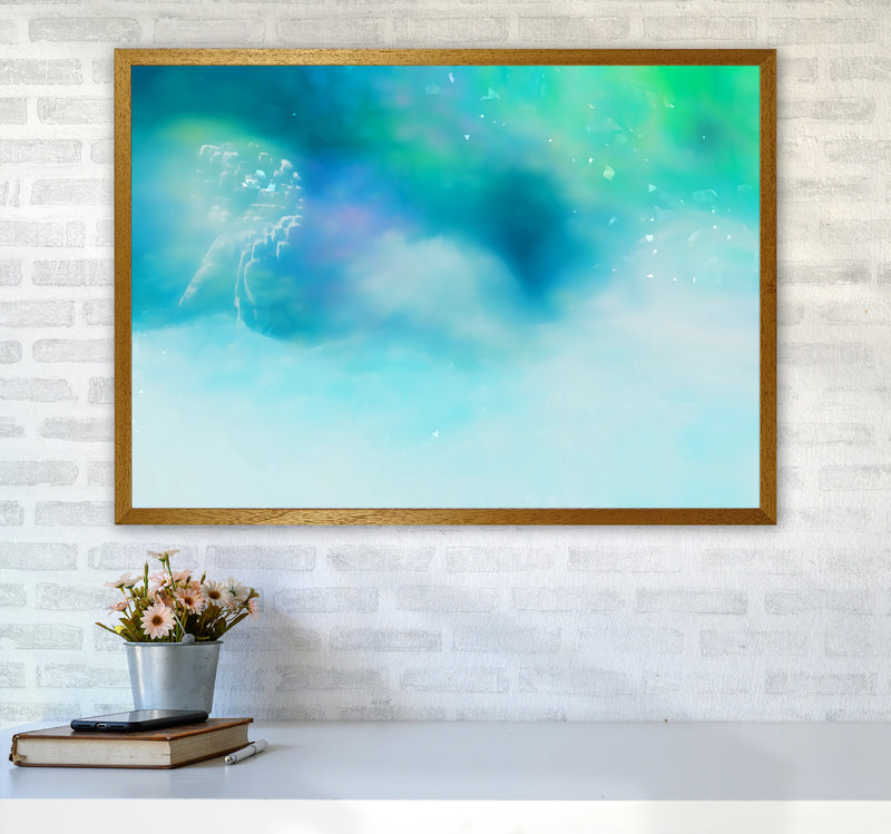 Clearing 1 Abstract Art Print by Henry Hu A1 Print Only