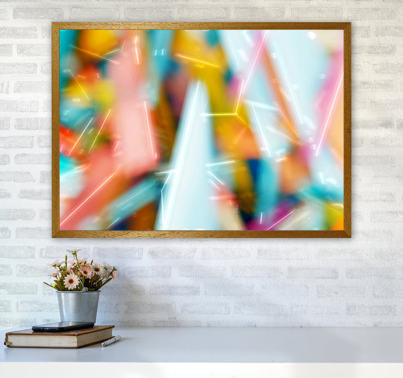 Rush 1 Abstract Art Print by Henry Hu A1 Print Only