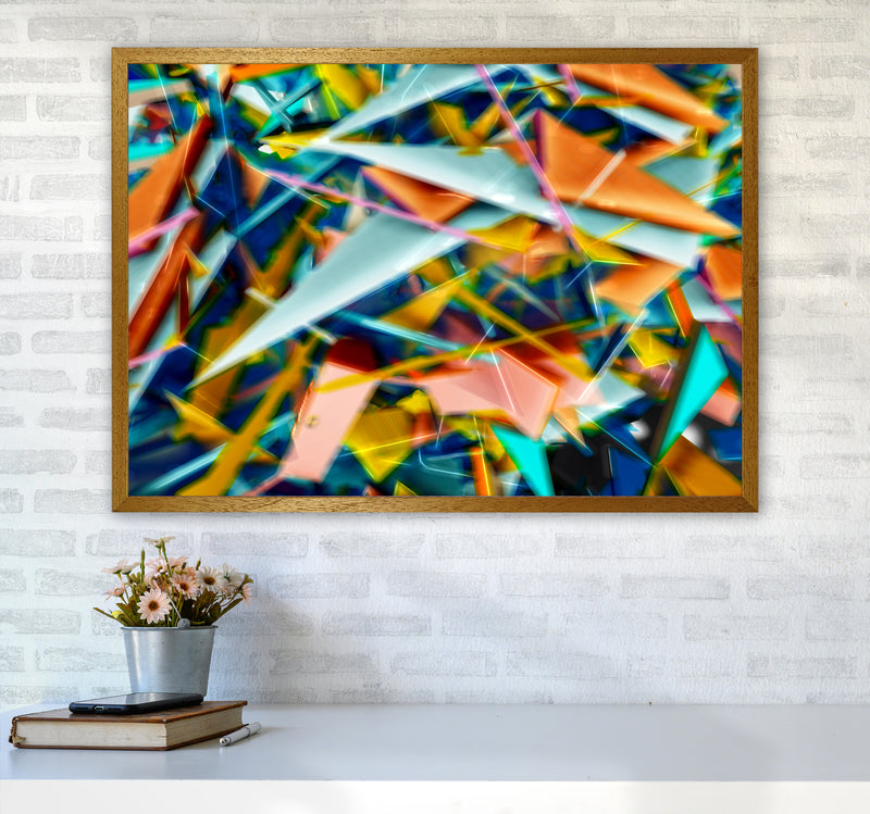 Blurred Triangles 2 Abstract Art Print by Henry Hu A1 Print Only