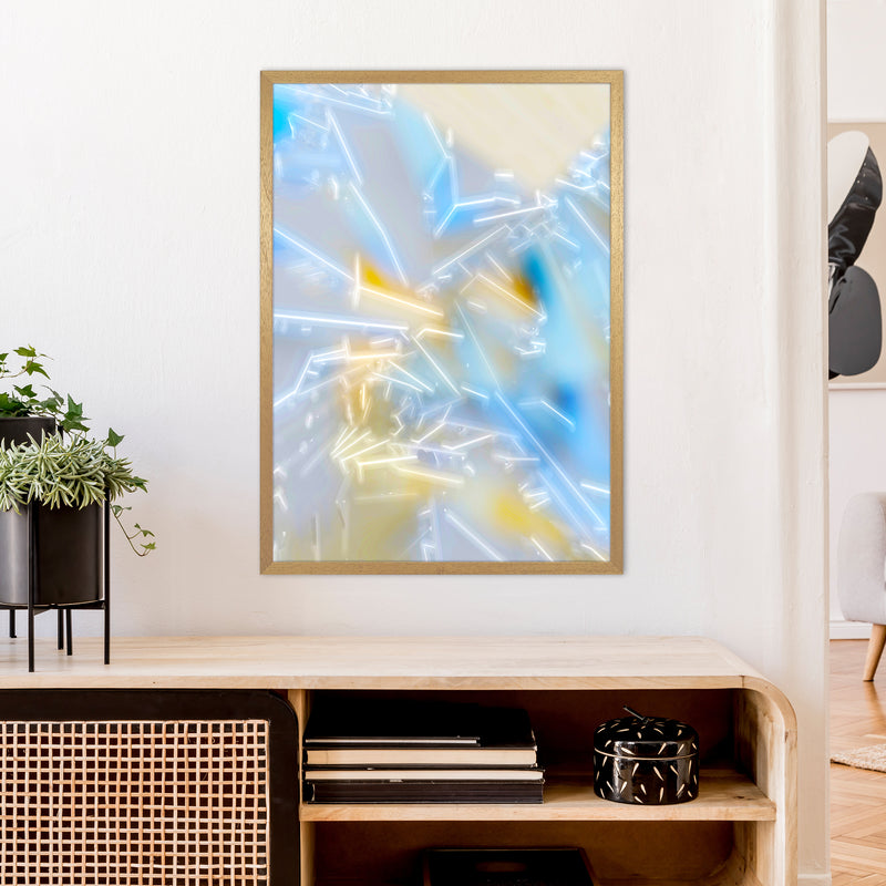 Electric Blue 2 Abstract Art Print by Henry Hu A1 Print Only