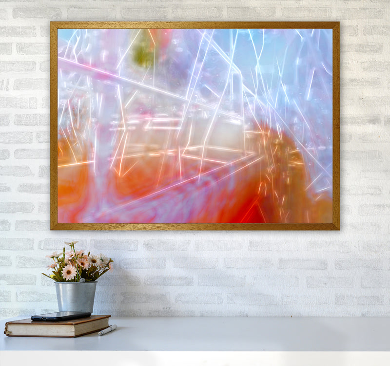 Neon Abstract Art Print by Henry Hu A1 Print Only