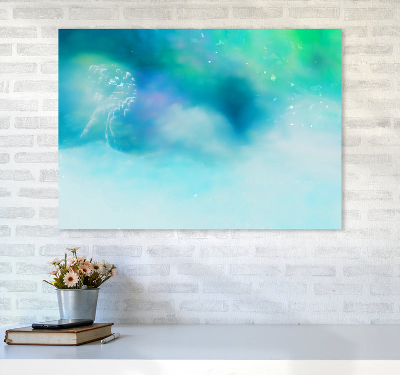 Clearing 1 Abstract Art Print by Henry Hu A1 Black Frame