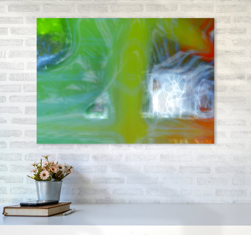 Storm Abstract Art Print by Henry Hu A1 Black Frame