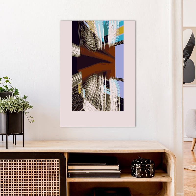 Unit 2 Abstract Art Print by Henry Hu A1 Black Frame