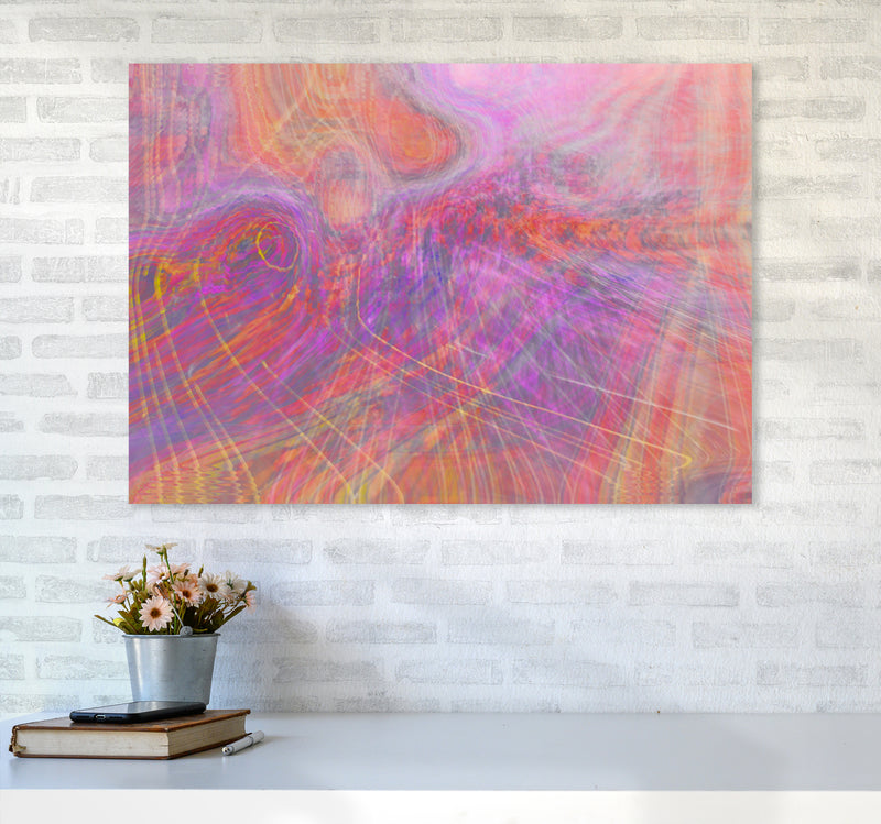 Wake early Abstract Art Print by Henry Hu A1 Black Frame