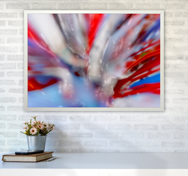 Exposure 4 Abstract Art Print by Henry Hu A1 Oak Frame