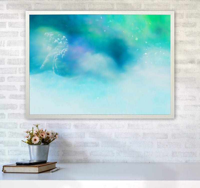 Clearing 1 Abstract Art Print by Henry Hu A1 Oak Frame