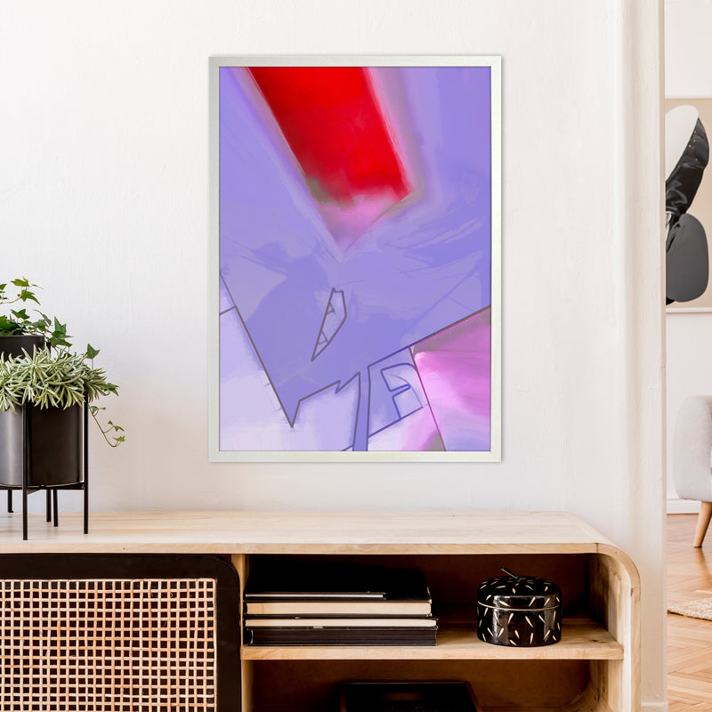 Frontseat Abstract Art Print by Henry Hu A1 Oak Frame