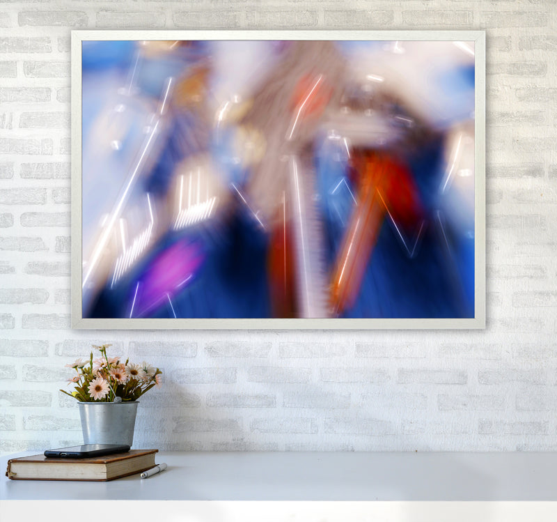 The Sail 7 Abstract Art Print by Henry Hu A1 Oak Frame