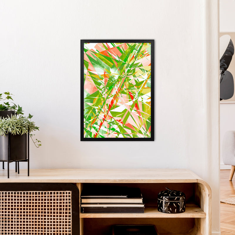 Shatter 4 Abstract Art Print by Henry Hu A2 White Frame
