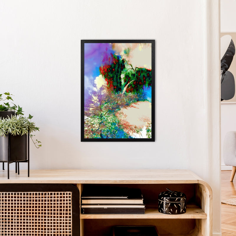Sweet Tea 9 Abstract Art Print by Henry Hu A2 White Frame