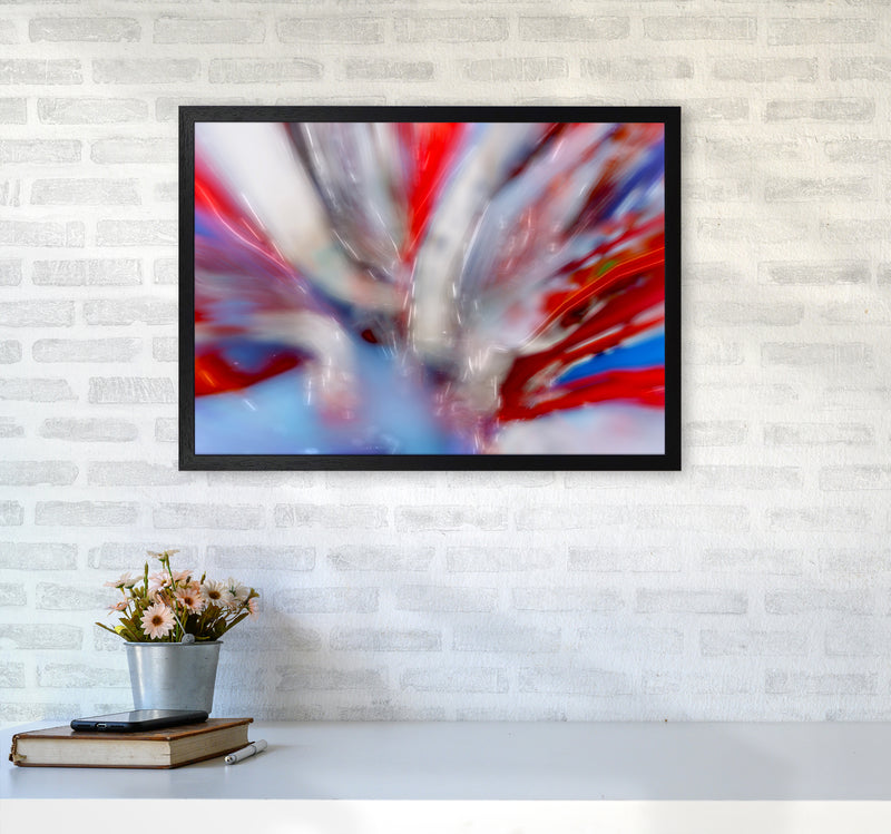 Exposure 4 Abstract Art Print by Henry Hu A2 White Frame