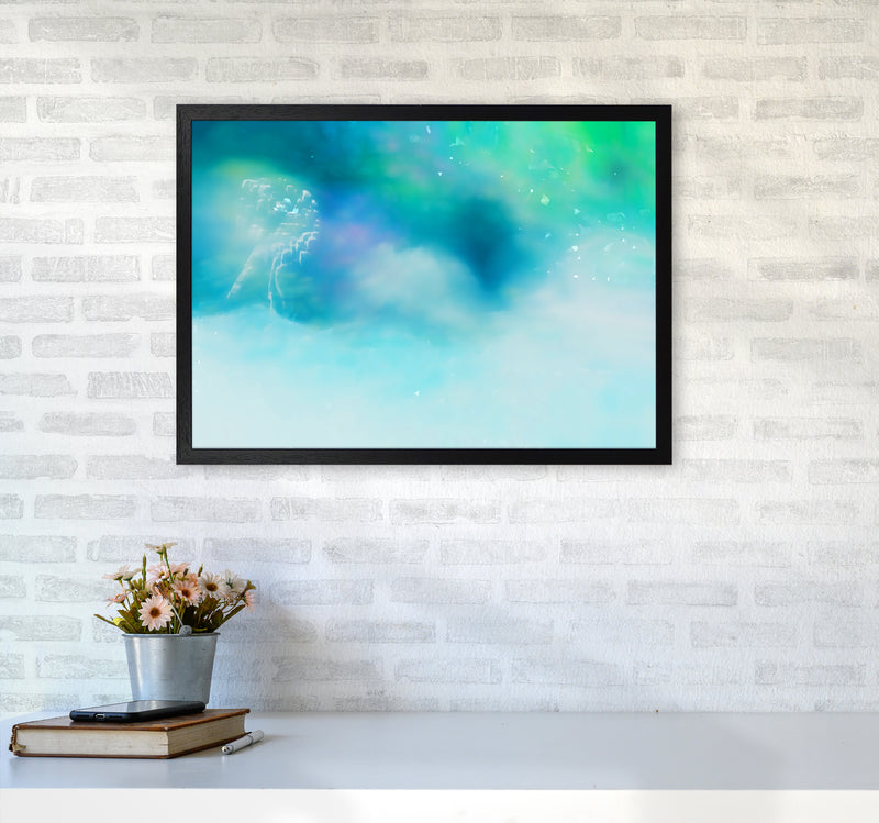 Clearing 1 Abstract Art Print by Henry Hu A2 White Frame