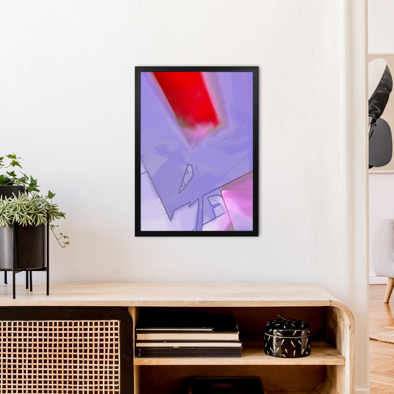 Frontseat Abstract Art Print by Henry Hu A2 White Frame