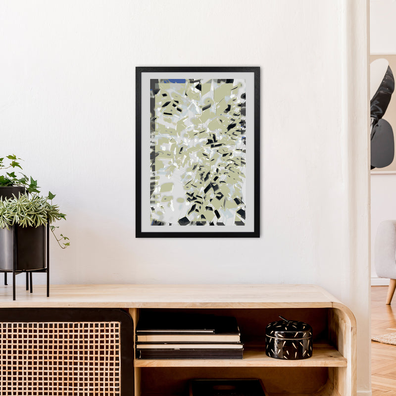 Pane 4 Abstract Art Print by Henry Hu A2 White Frame