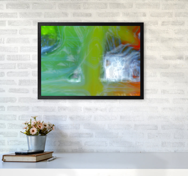 Storm Abstract Art Print by Henry Hu A2 White Frame