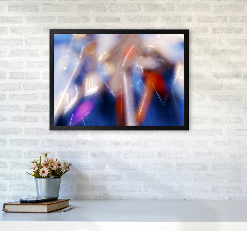 The Sail 7 Abstract Art Print by Henry Hu A2 White Frame