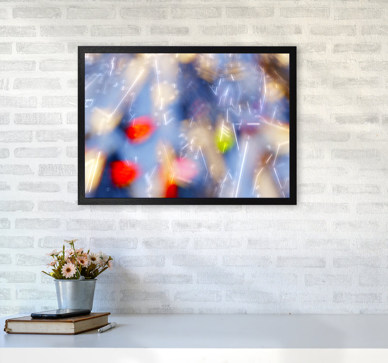 The Sail 5 Abstract Art Print by Henry Hu A2 White Frame