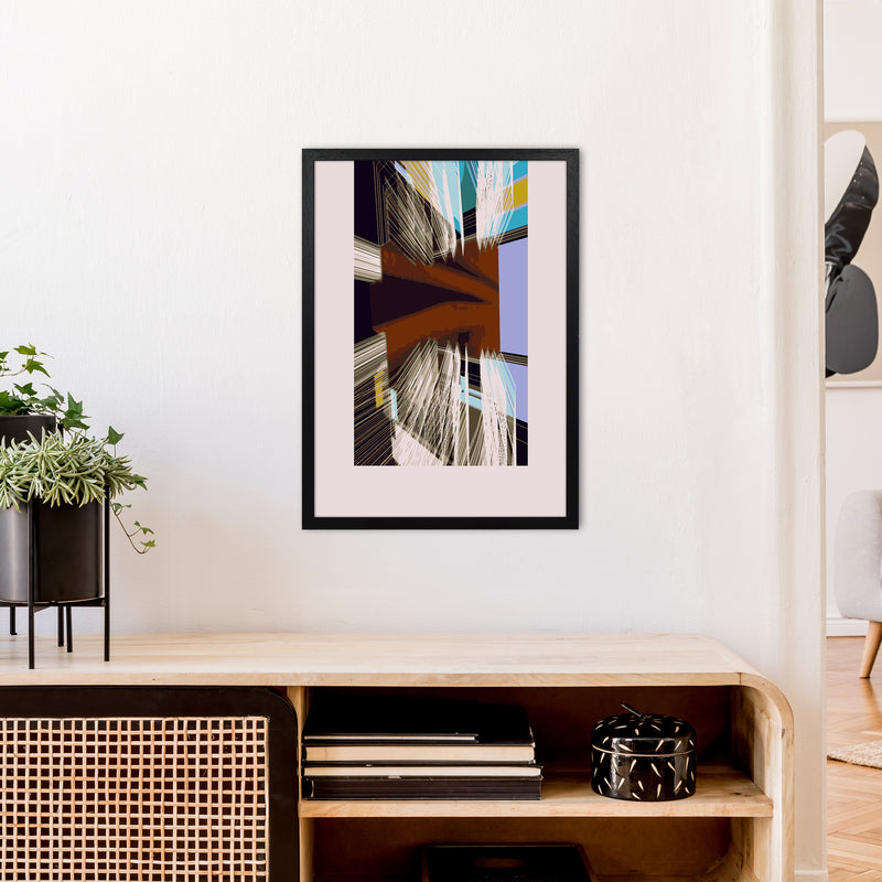 Unit 2 Abstract Art Print by Henry Hu A2 White Frame