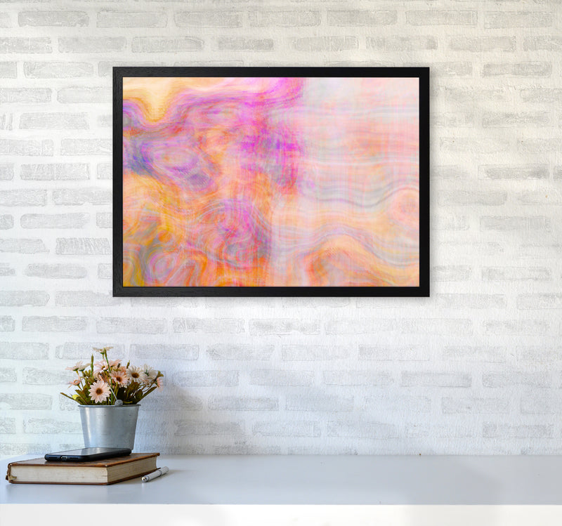 Creation 2 Abstract Art Print by Henry Hu A2 White Frame