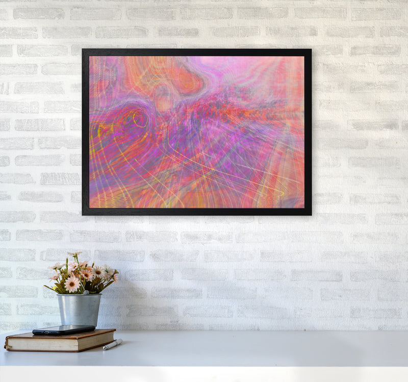Wake early Abstract Art Print by Henry Hu A2 White Frame
