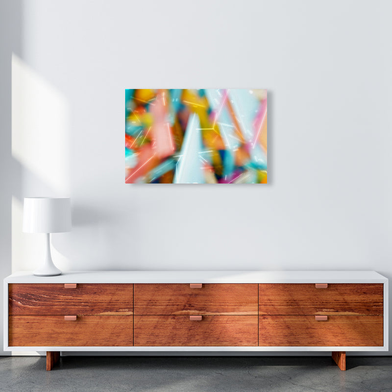 Rush 1 Abstract Art Print by Henry Hu A2 Canvas