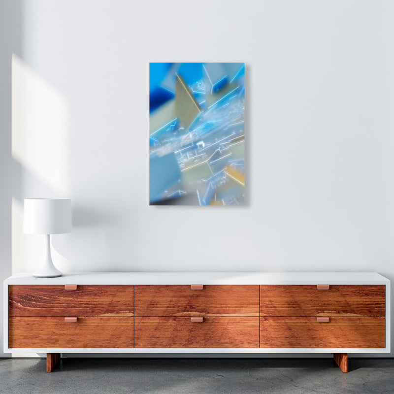 Electric Blue 6 Abstract Art Print by Henry Hu A2 Canvas