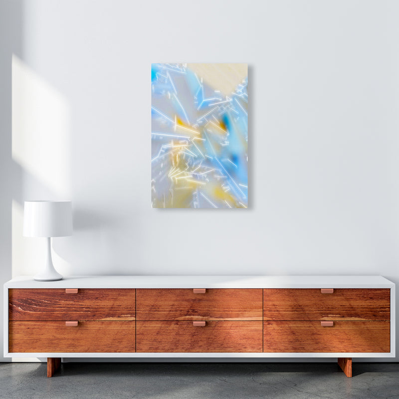 Electric Blue 2 Abstract Art Print by Henry Hu A2 Canvas