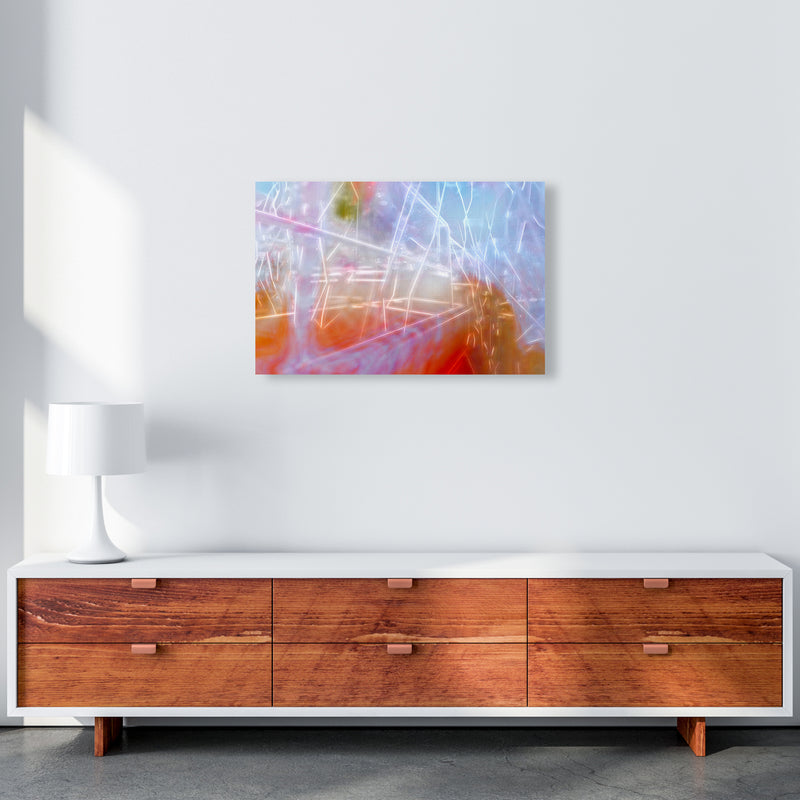 Neon Abstract Art Print by Henry Hu A2 Canvas