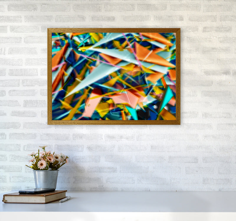 Blurred Triangles 2 Abstract Art Print by Henry Hu A2 Print Only