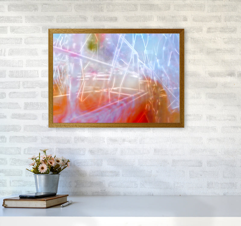 Neon Abstract Art Print by Henry Hu A2 Print Only