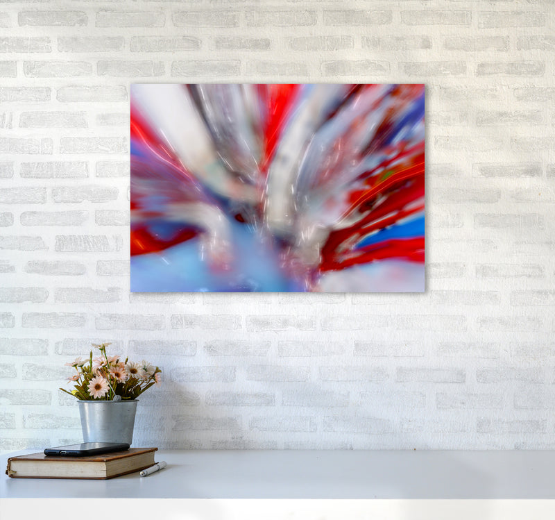 Exposure 4 Abstract Art Print by Henry Hu A2 Black Frame