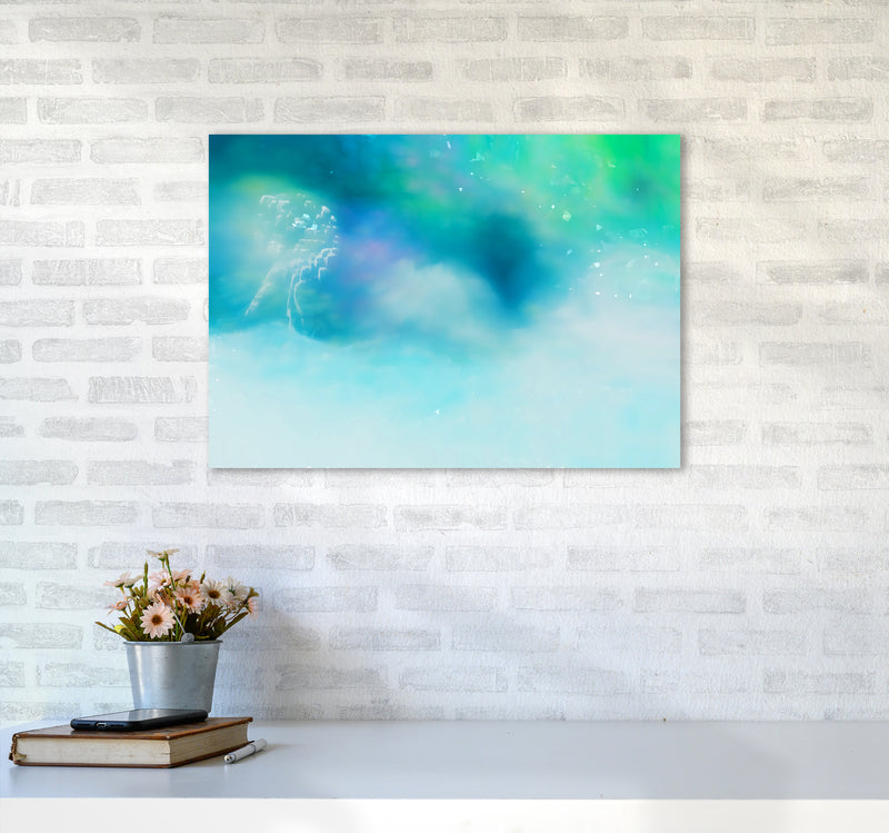 Clearing 1 Abstract Art Print by Henry Hu A2 Black Frame