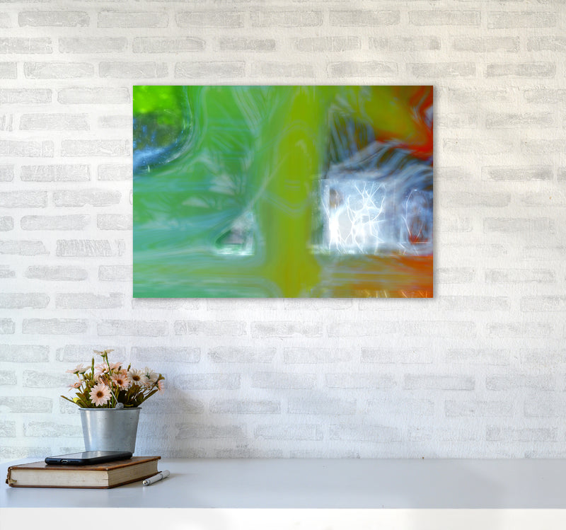 Storm Abstract Art Print by Henry Hu A2 Black Frame