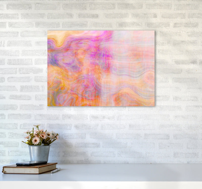 Creation 2 Abstract Art Print by Henry Hu A2 Black Frame