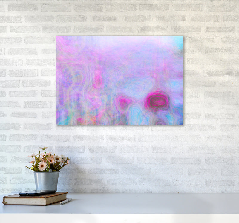 September Breeze Abstract Art Print by Henry Hu A2 Black Frame