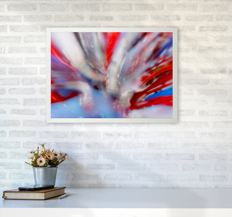 Exposure 4 Abstract Art Print by Henry Hu A2 Oak Frame