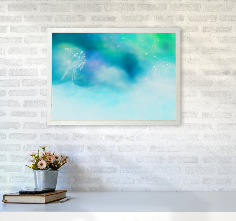 Clearing 1 Abstract Art Print by Henry Hu A2 Oak Frame