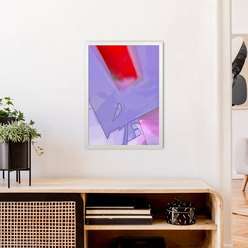 Frontseat Abstract Art Print by Henry Hu A2 Oak Frame