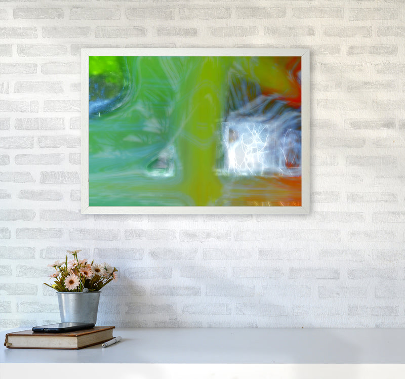 Storm Abstract Art Print by Henry Hu A2 Oak Frame