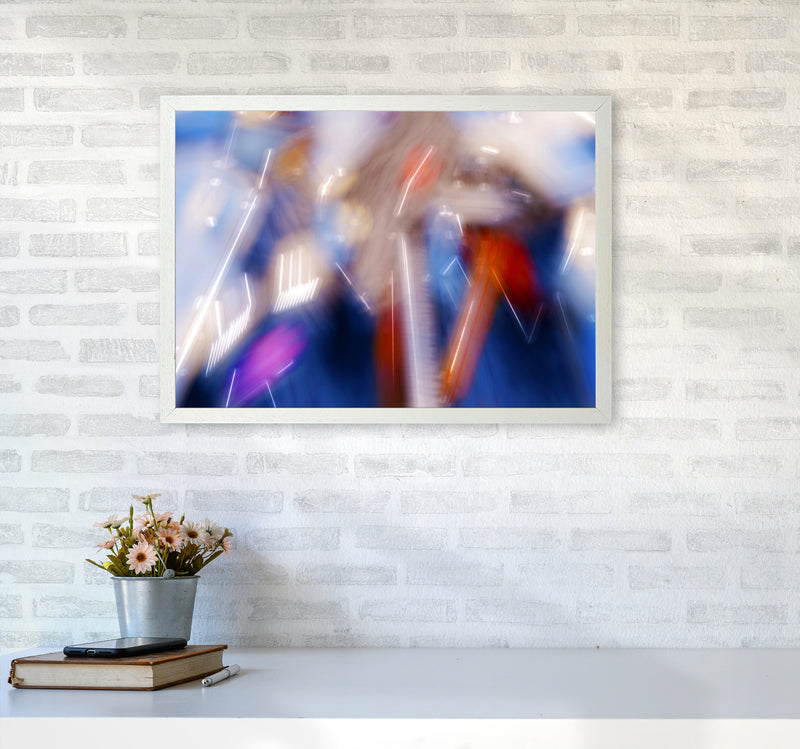 The Sail 7 Abstract Art Print by Henry Hu A2 Oak Frame