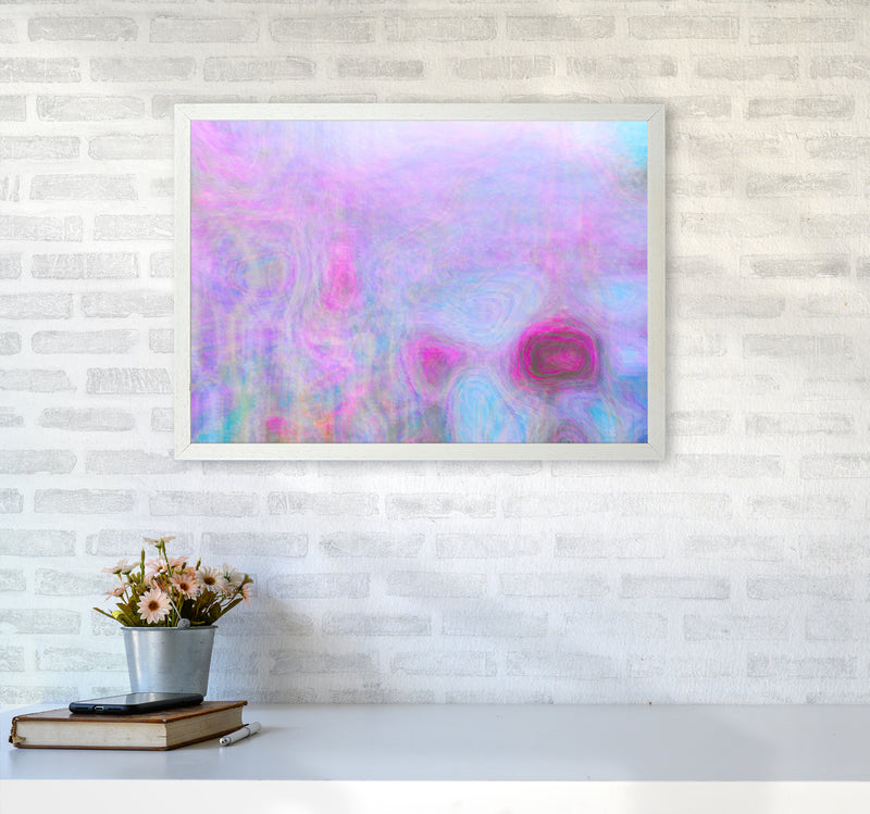 September Breeze Abstract Art Print by Henry Hu A2 Oak Frame