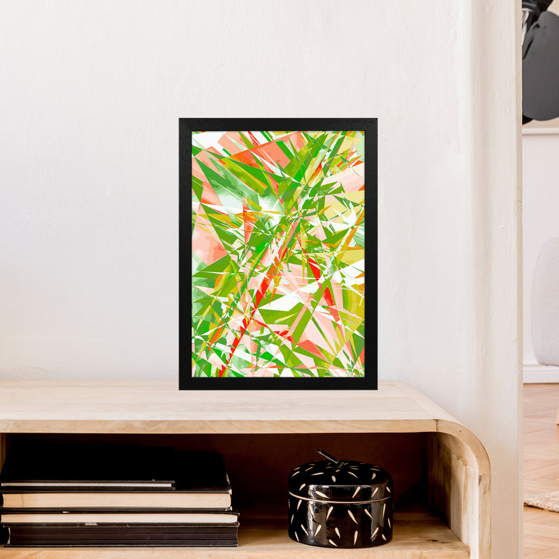 Shatter 4 Abstract Art Print by Henry Hu A3 White Frame