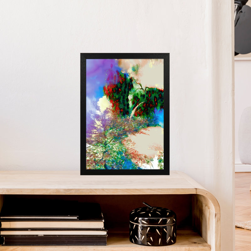 Sweet Tea 9 Abstract Art Print by Henry Hu A3 White Frame