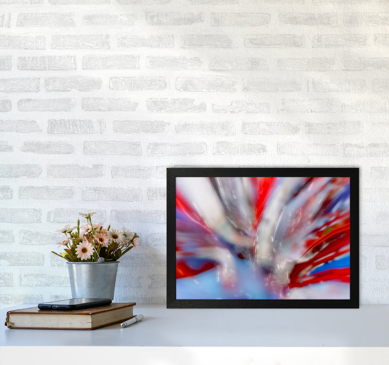 Exposure 4 Abstract Art Print by Henry Hu A3 White Frame