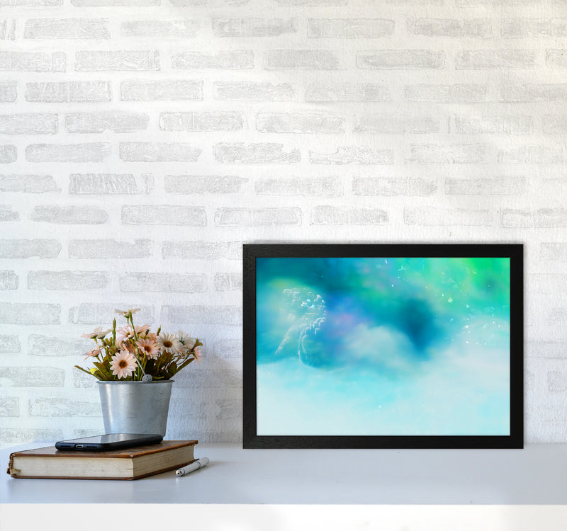 Clearing 1 Abstract Art Print by Henry Hu A3 White Frame