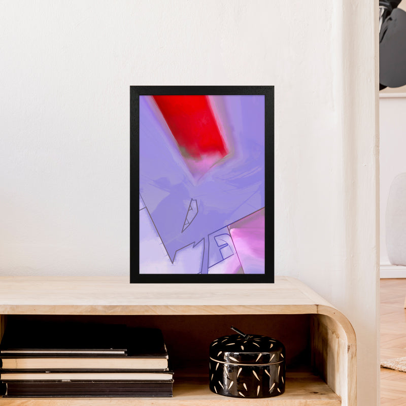 Frontseat Abstract Art Print by Henry Hu A3 White Frame
