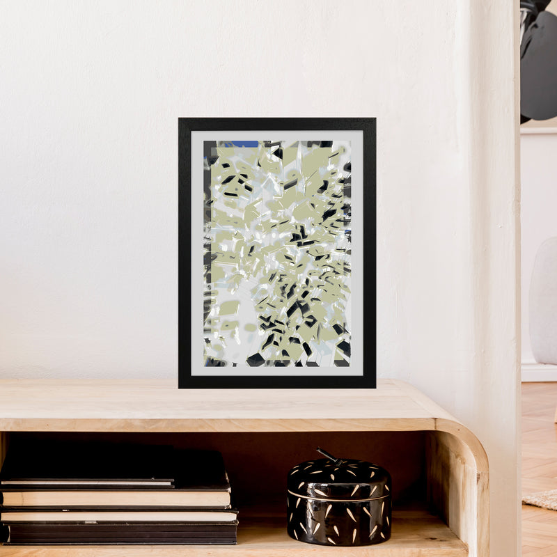 Pane 4 Abstract Art Print by Henry Hu A3 White Frame